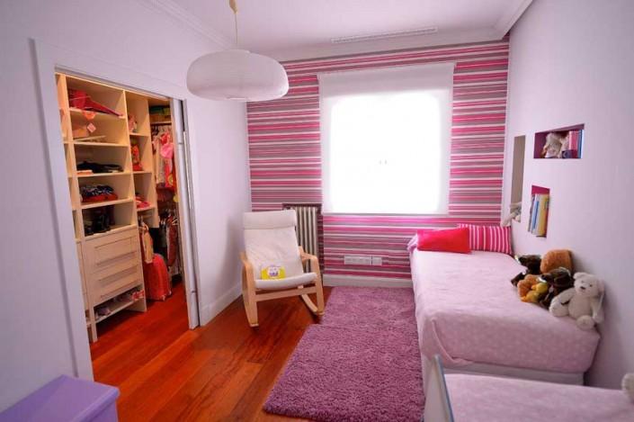 habitación infantil con vestidor en reforma integral en calle Goya
