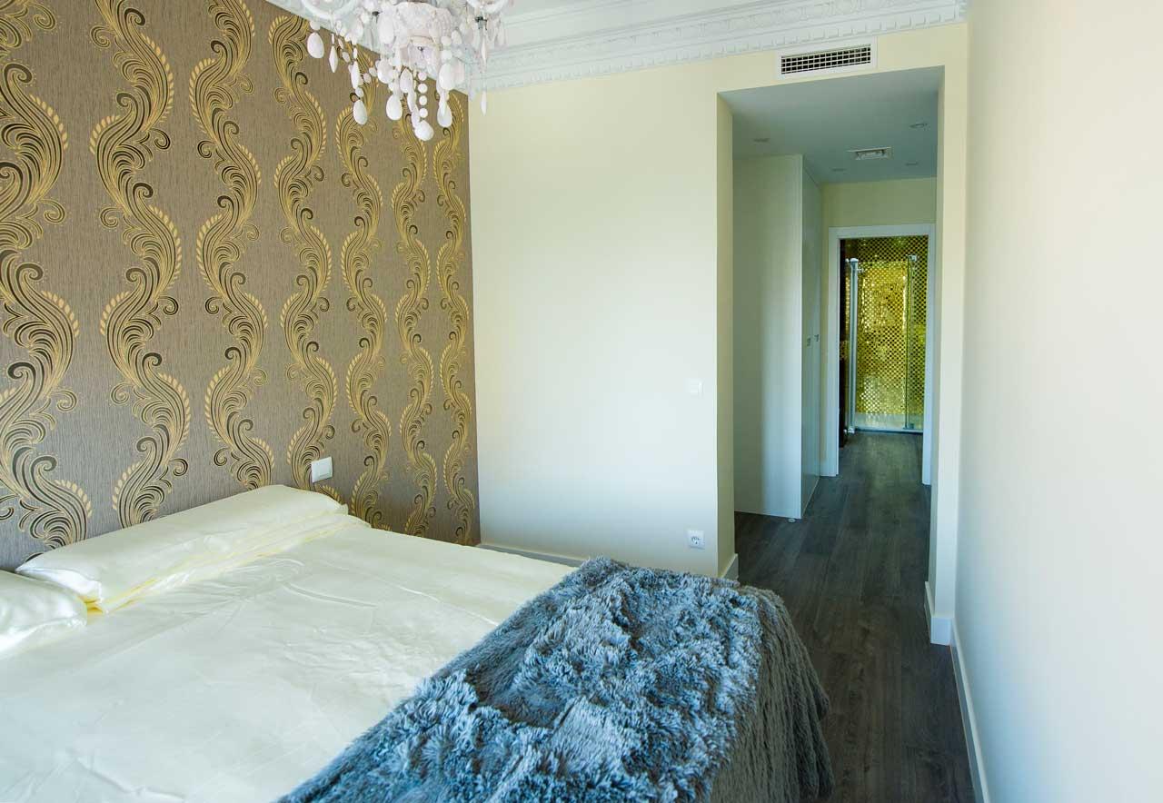 dormitorio piso barrio de Salamanca
