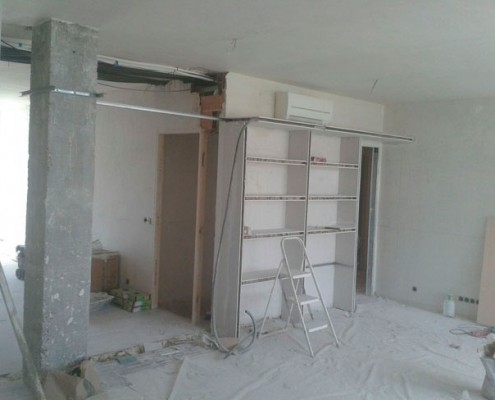 durante reforma piso en Ciudad Lineal, Madrid