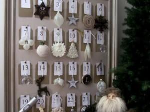 decoración navidad calendario