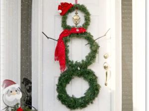 decoración navidad puerta