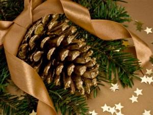 decoración navidad piña