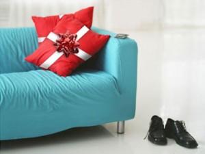 decoración navidad cojines como regalo