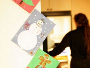 decoración navidad postales