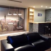 vista del salón reforma chalet en Getafe