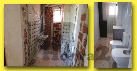 antes y despues reforma de cuarto de baño