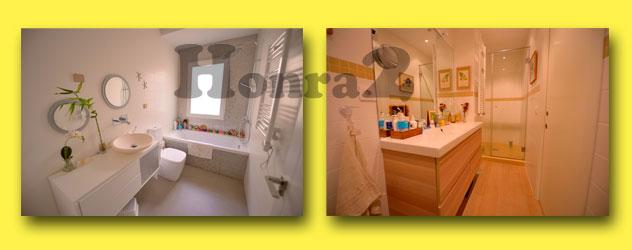Imagen de baño con bañera y de baño con plato de ducha