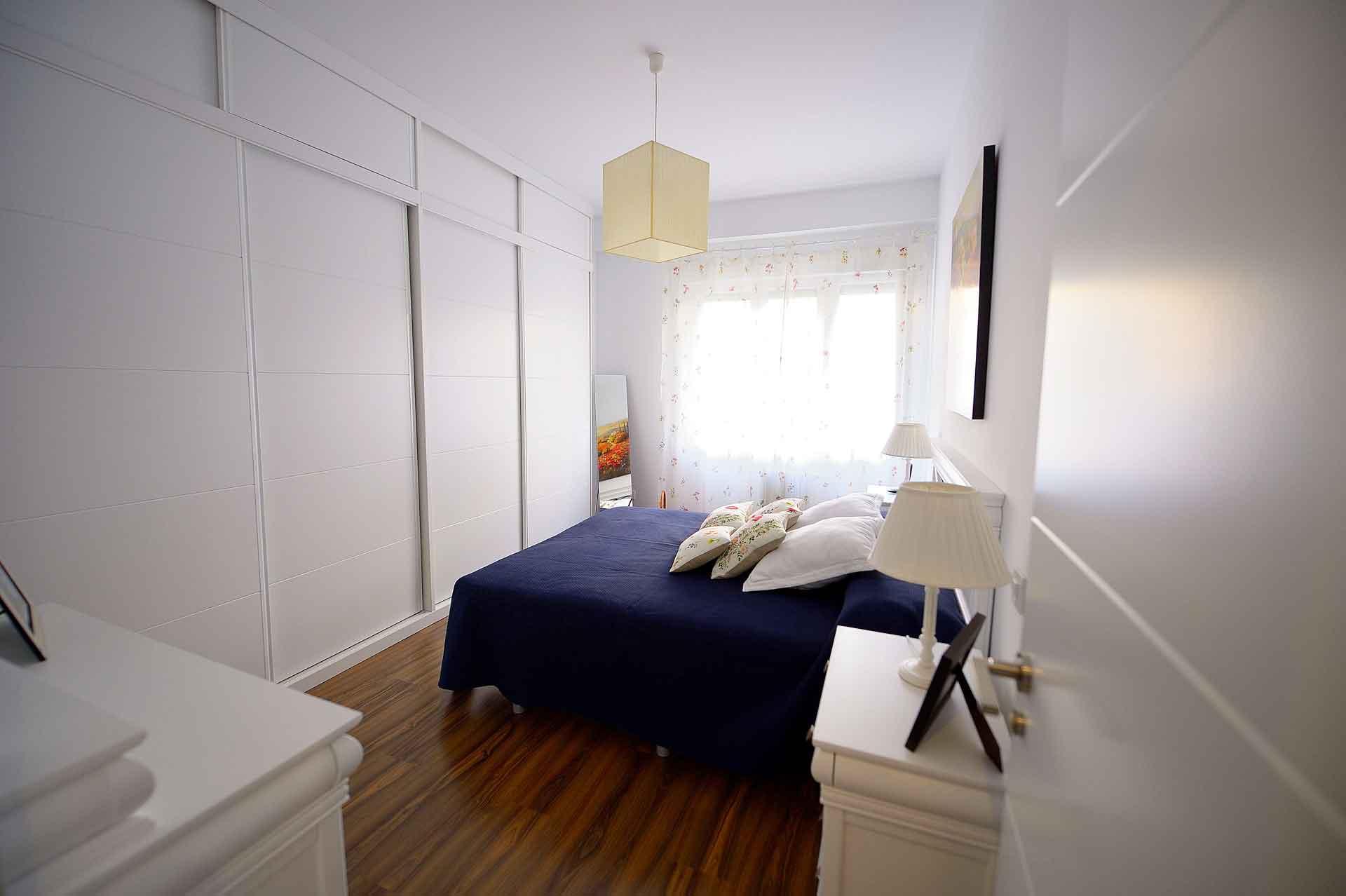 reforma de dormitorio en piso barrio Salamanca
