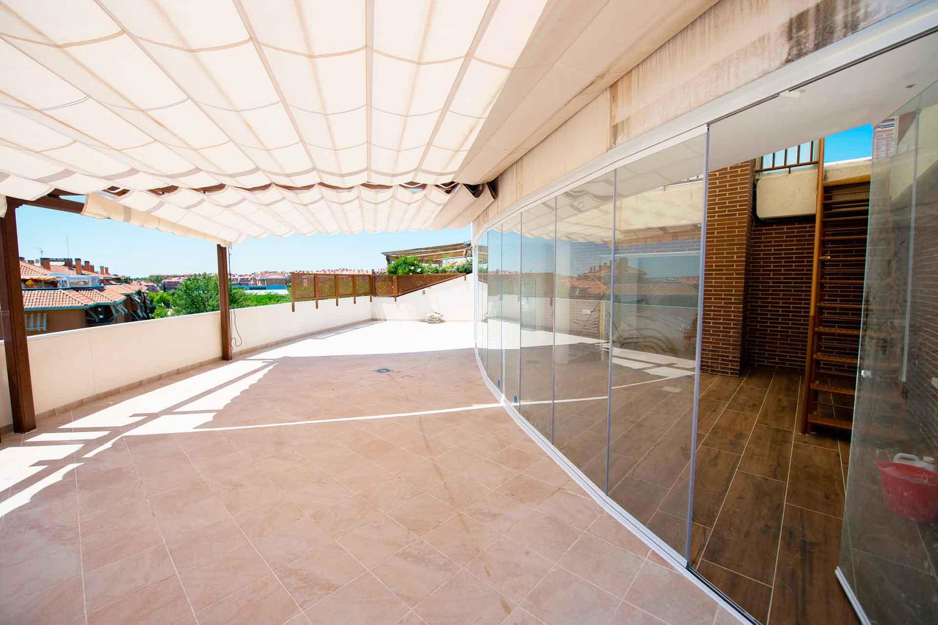 patio ático en Madrid