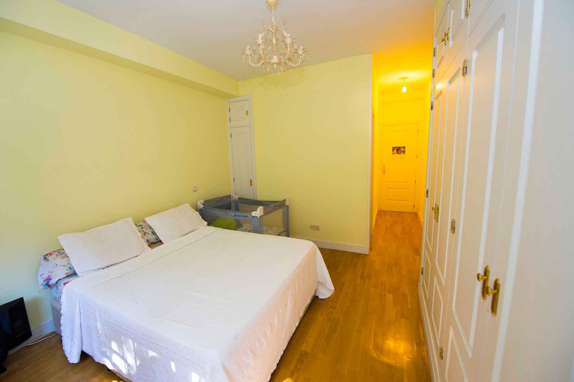 Dormitorio reforma de piso en Pozuelo