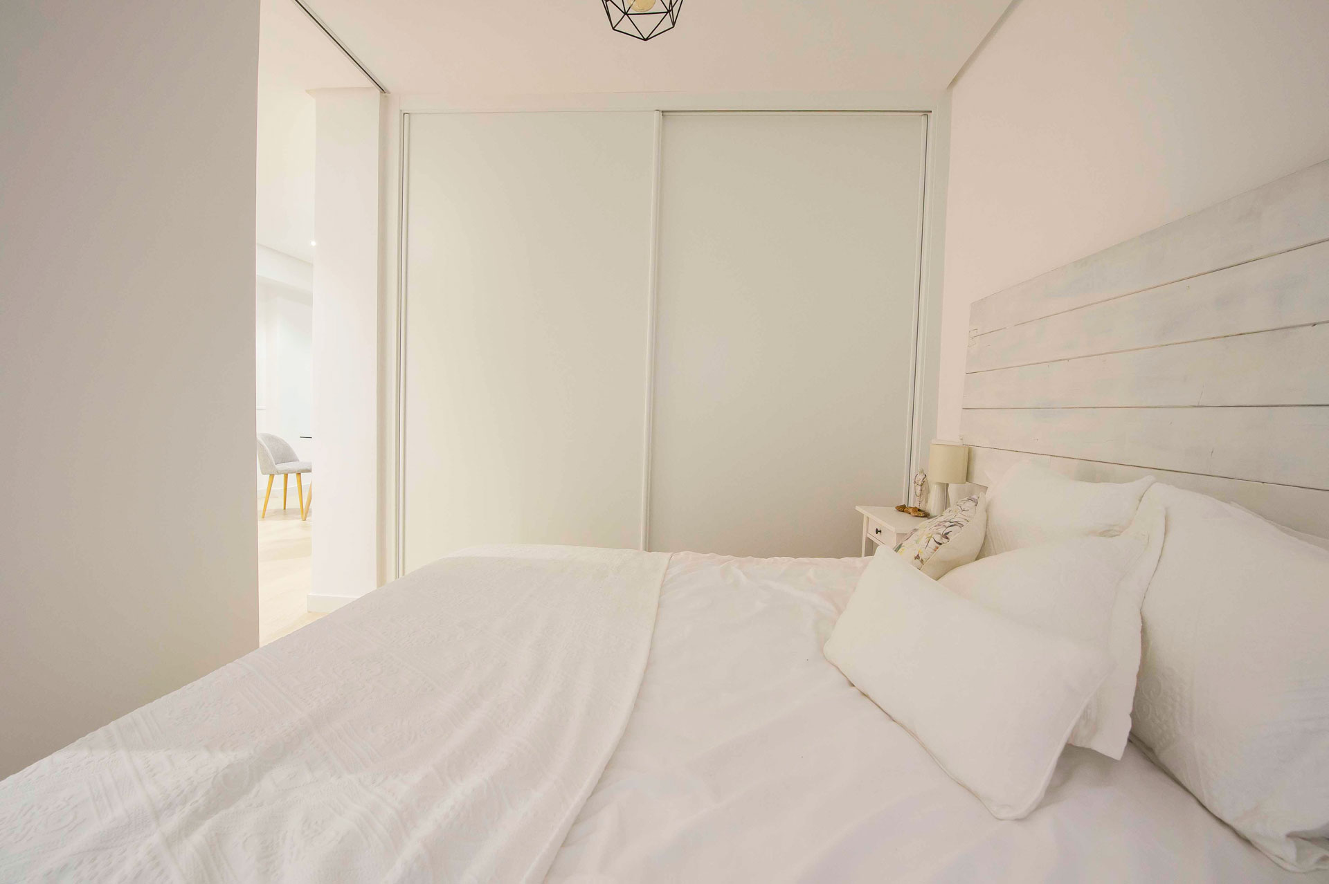dormitorio apartamento calle Jorge Juan