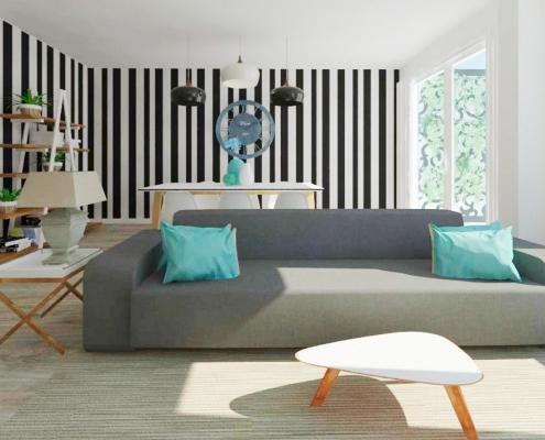 salón diseñado empresa interiorismo