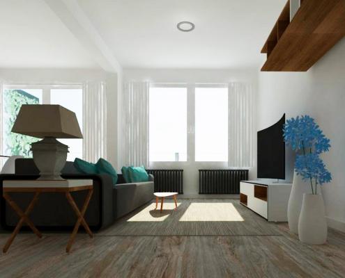 proyecto diseño de salón en Madrid