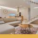 Salón diseñado y decorado con las últimas tendencias